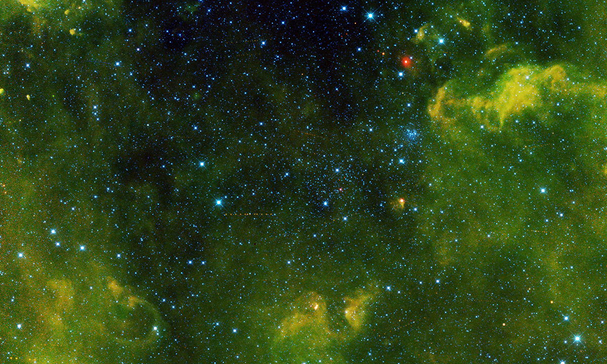 More than 100 asteroids were captured in this view from NASA's Wide-field Infrared Survey Explorer, or WISE, during its primary all-sky survey.