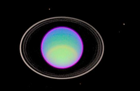 Hubble Space Telescope has peered deep into Uranus' atmosphere to see clear and hazy layers created by a mixture of gases.