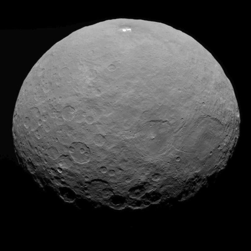 This image of Ceres is part of a sequence taken by NASA's Dawn spacecraft on May 7, 2015, from a distance of 8,400 miles (13,600 kilometers).