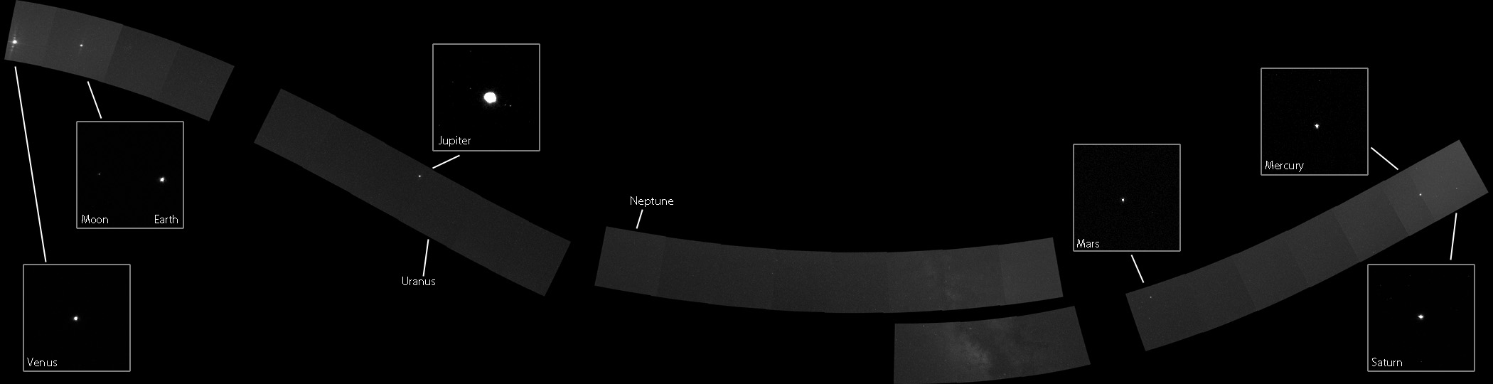 The MESSENGER spacecraft has captured the first portrait of our Solar System from the inside looking out.