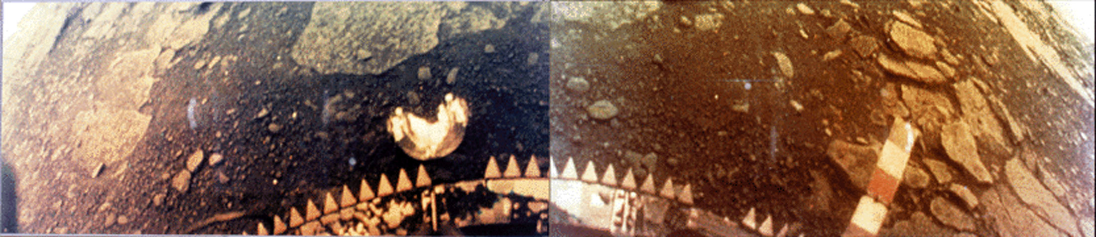 A Venera 13 Lander image of the surface of Venus at 7.5 S, 303. E, east of Phoebe Regio.
