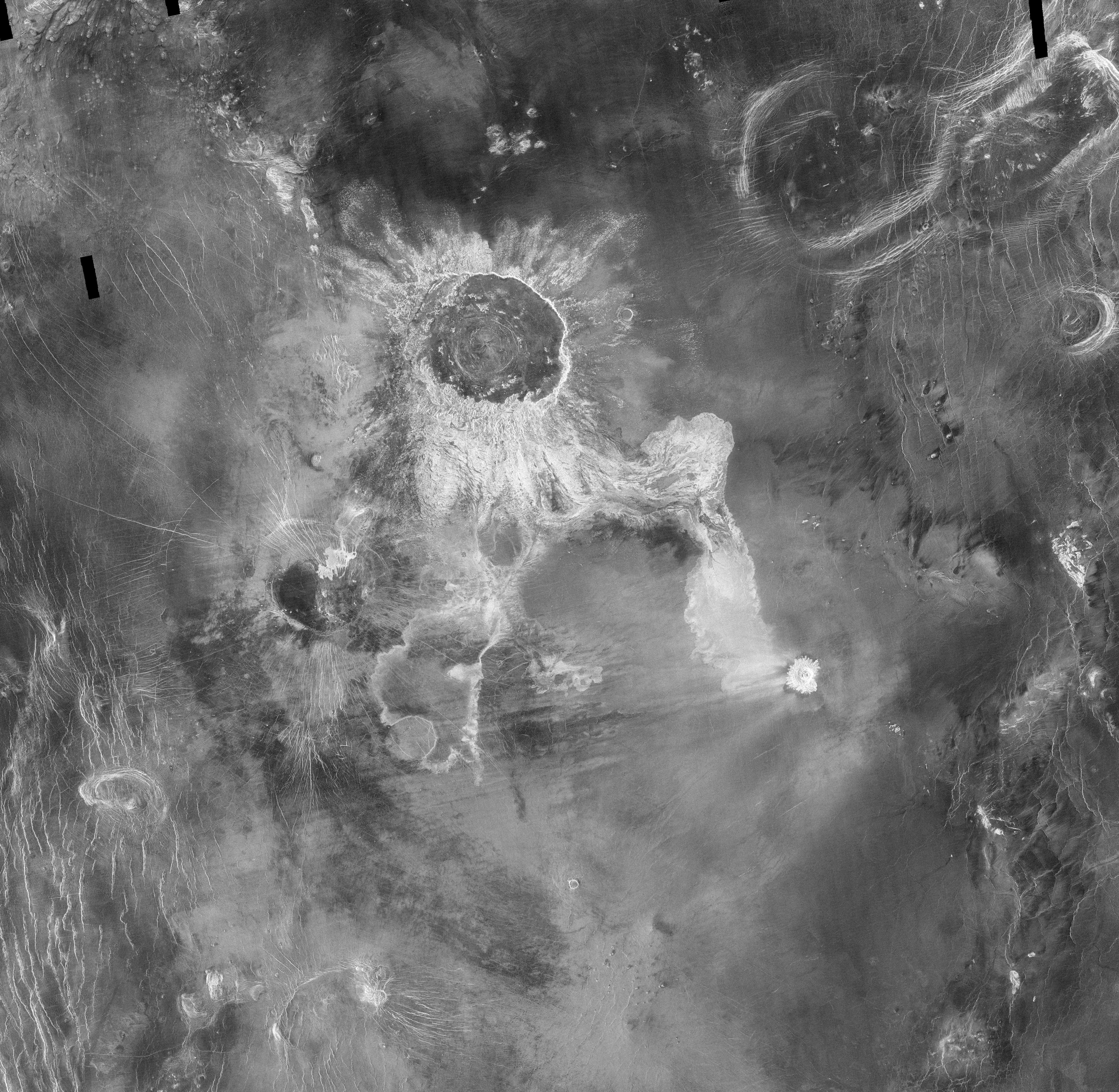 Crater on Venus