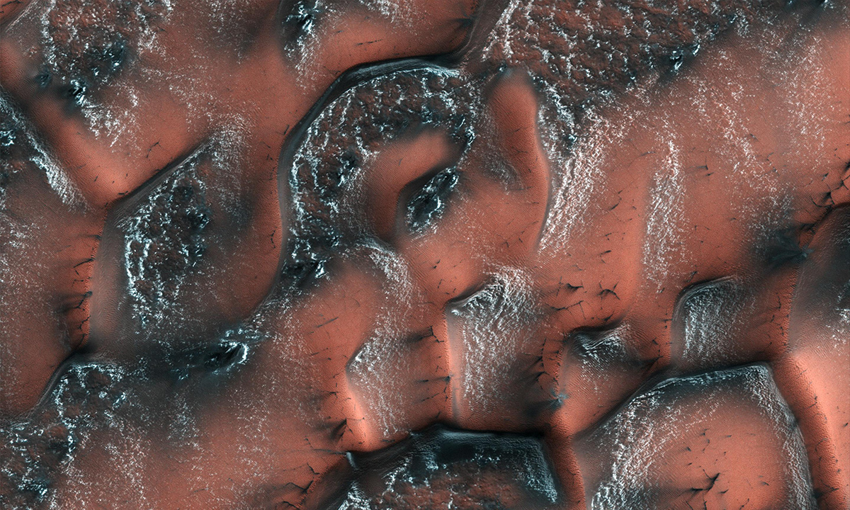 It is spring in the Northern hemisphere when NASA's Mars Reconnaissance Orbiter took this image.