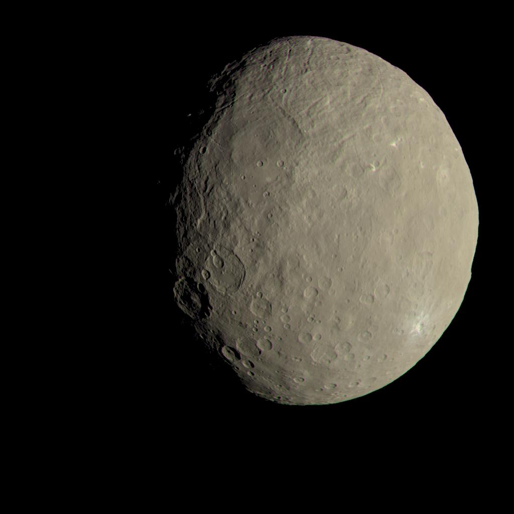 This image of Ceres approximates how the dwarf planet's colors would appear to the eye.
