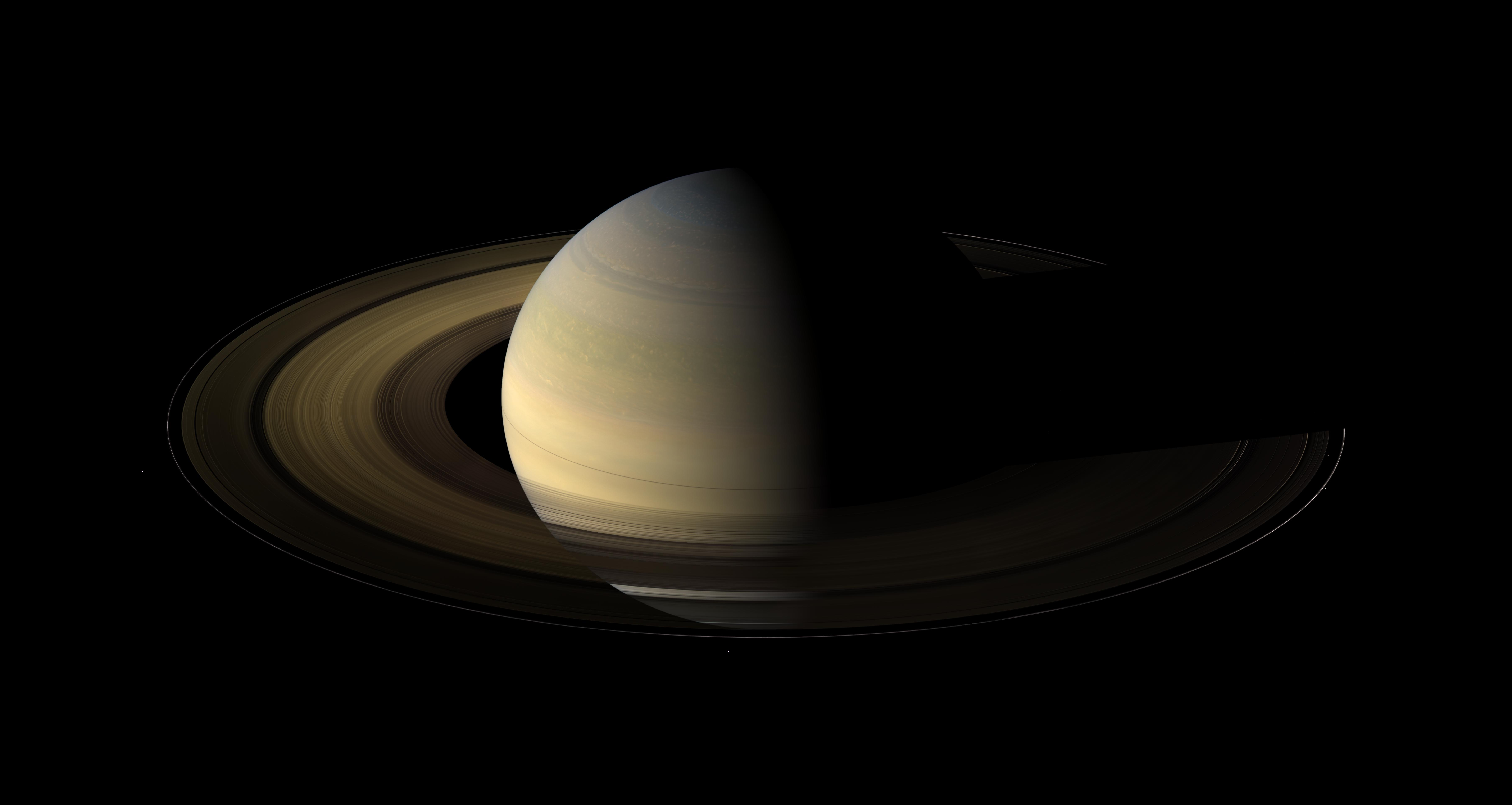 Of the countless equinoxes Saturn has seen since the birth of the solar system, this one, captured here in a mosaic of light and dark, is the first witnessed up close by an emissary from Earth … none other than our faithful robotic explorer, Cassini.