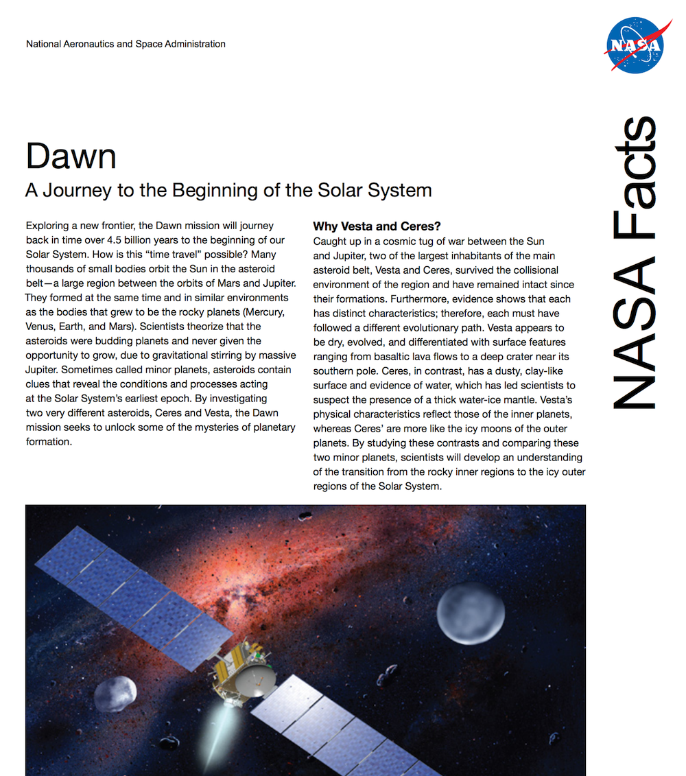 dawn fact sheet