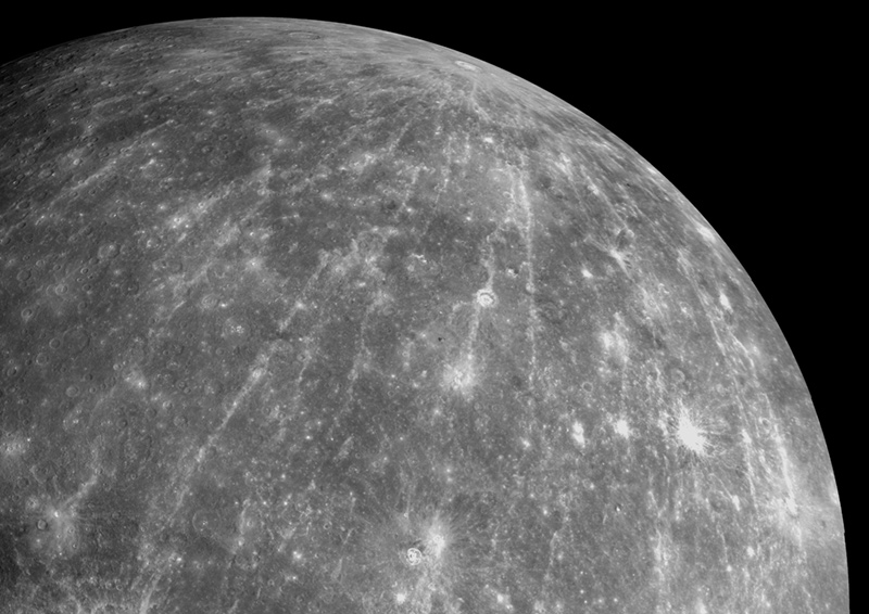 The Hokusai Crater on the planet Mercury