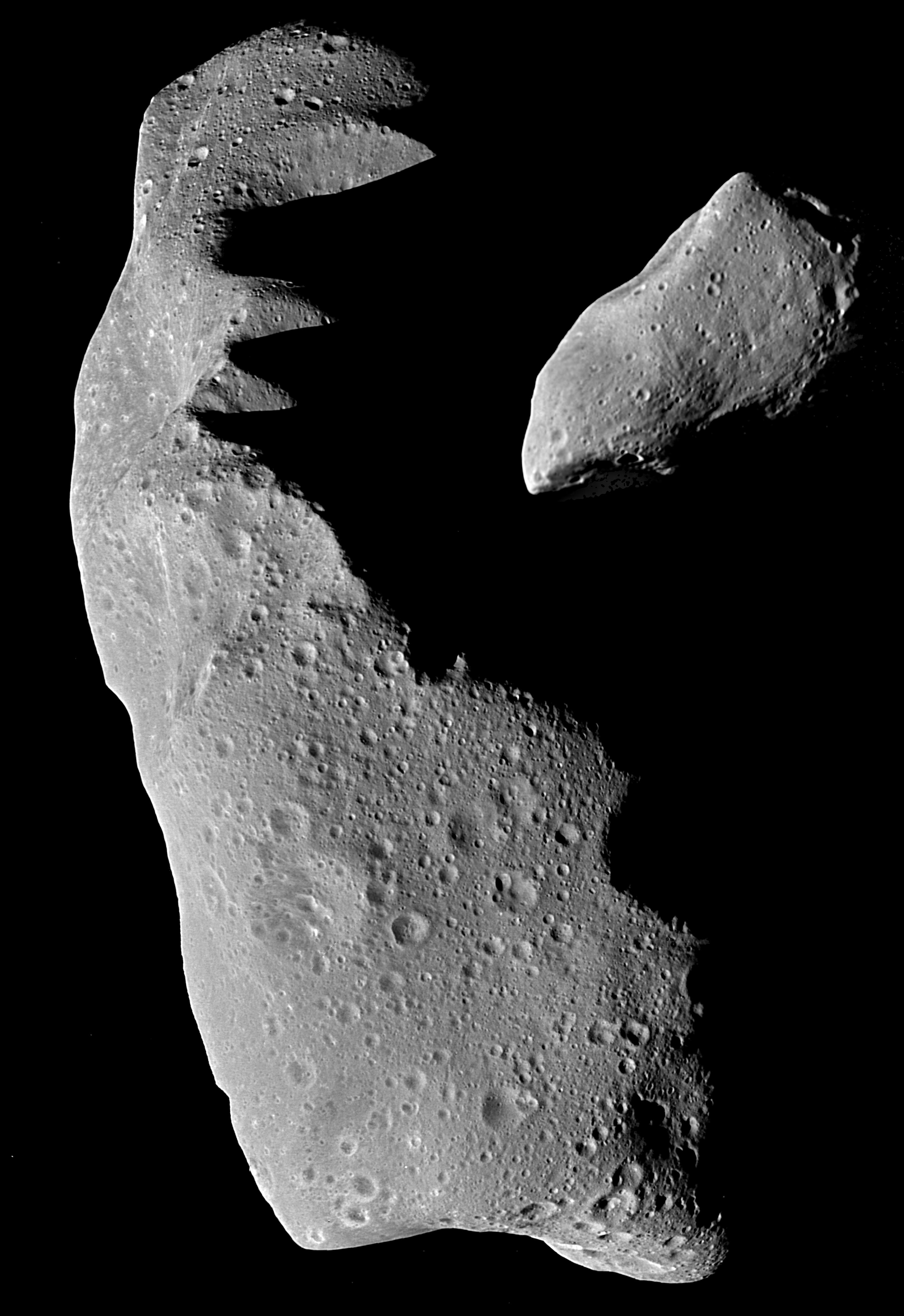 Image of asteroids Ida and Gastra