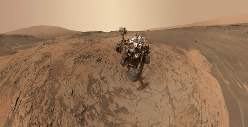 Curiosity Rover on Mars Surface
