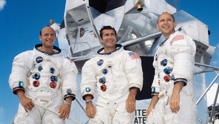 Photo of the 3 Apollo 12 crew members