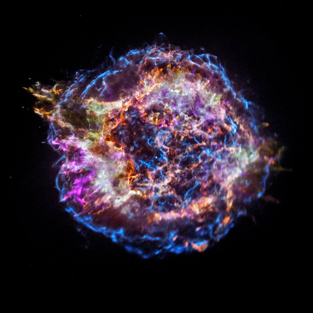 Colorful image of supernova remnant