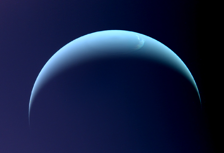 View of Neptune from Voyager 2