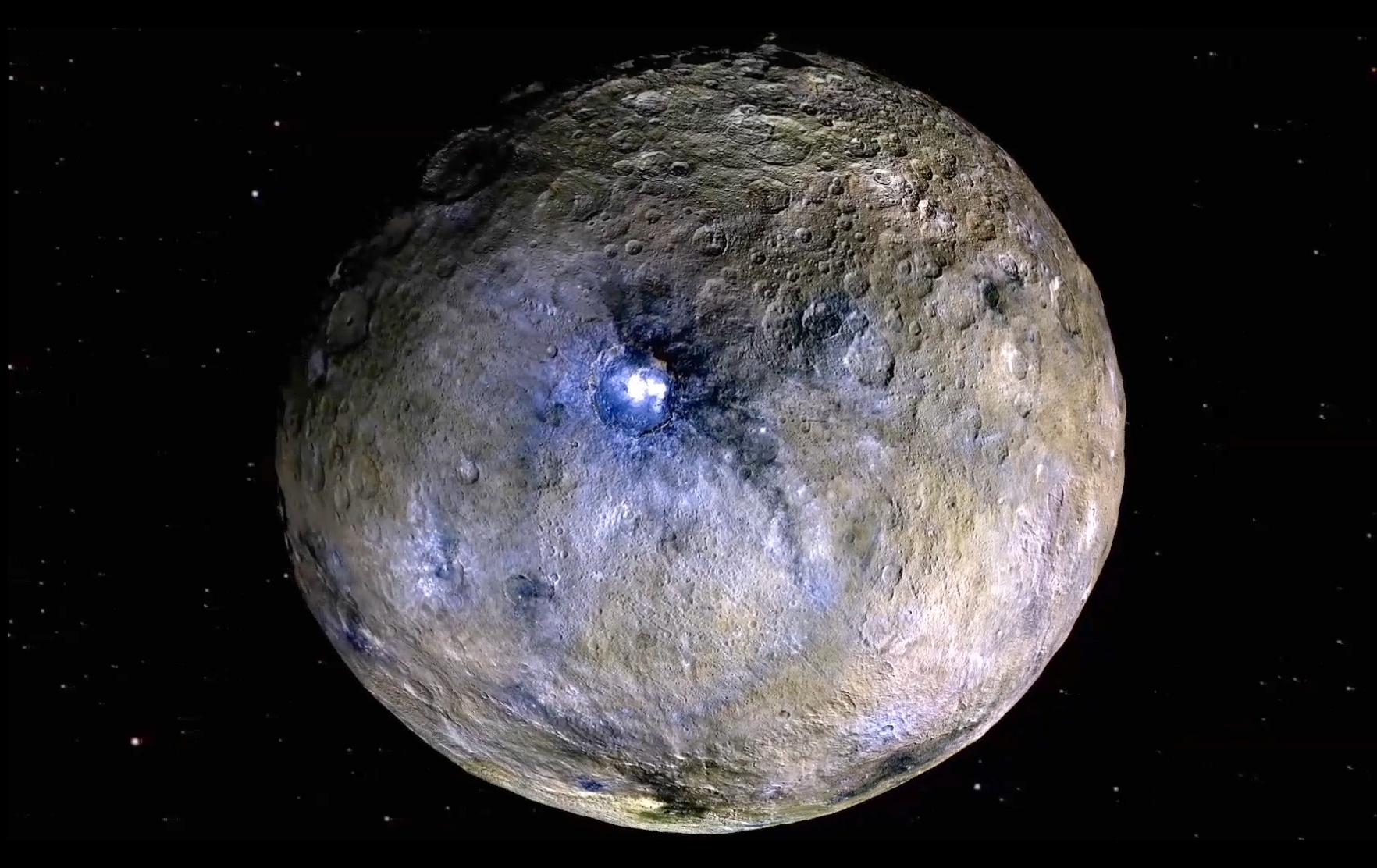 An image of the dwarf planet Ceres