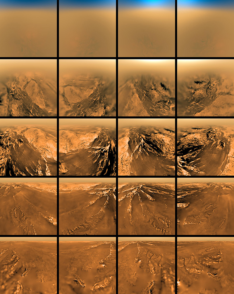 Color images of Titan's surface