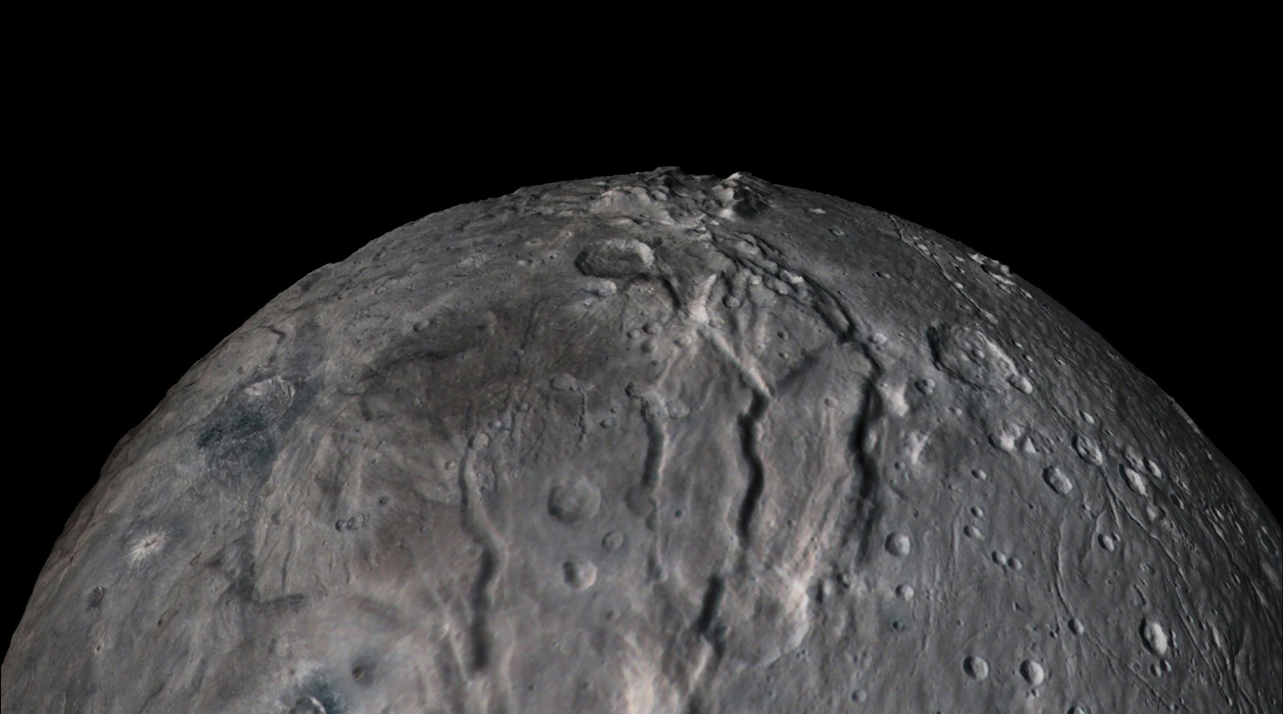 Flyover Pluto Moon Charon Nasa Solar System Exploration