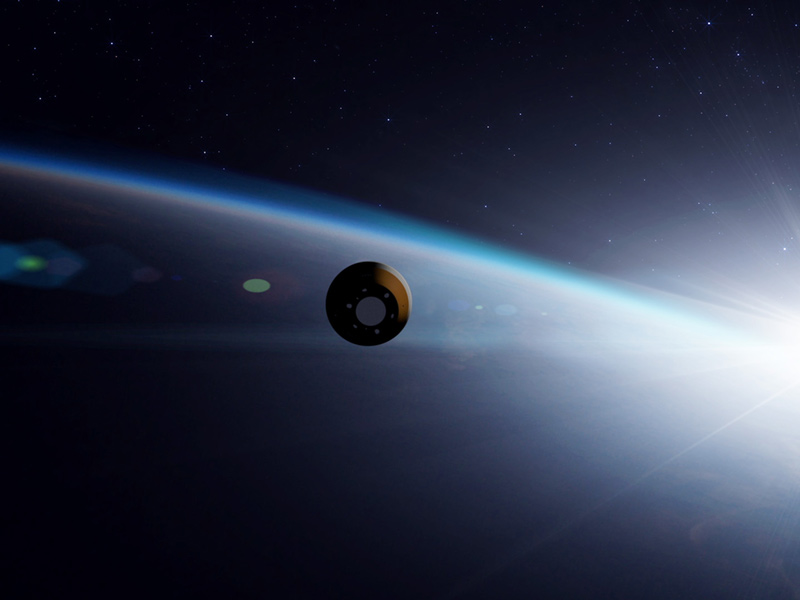 Artist's concept of the OSIRIS-REx spacecraft in space
