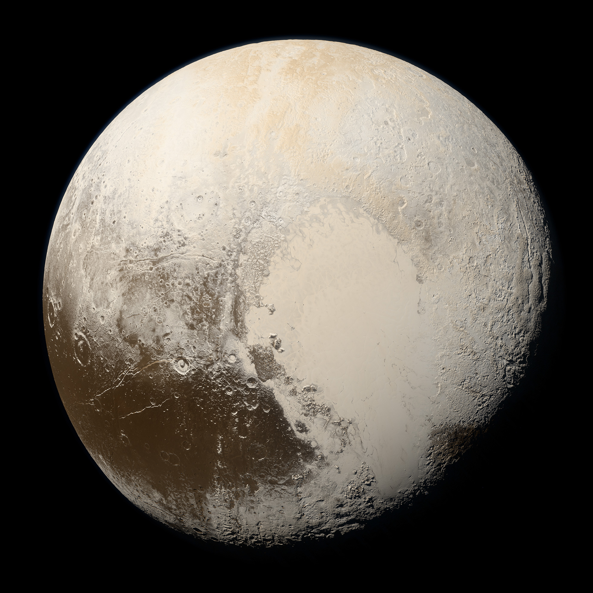 True Colors of Pluto | Solar System Exploration: NASA Science