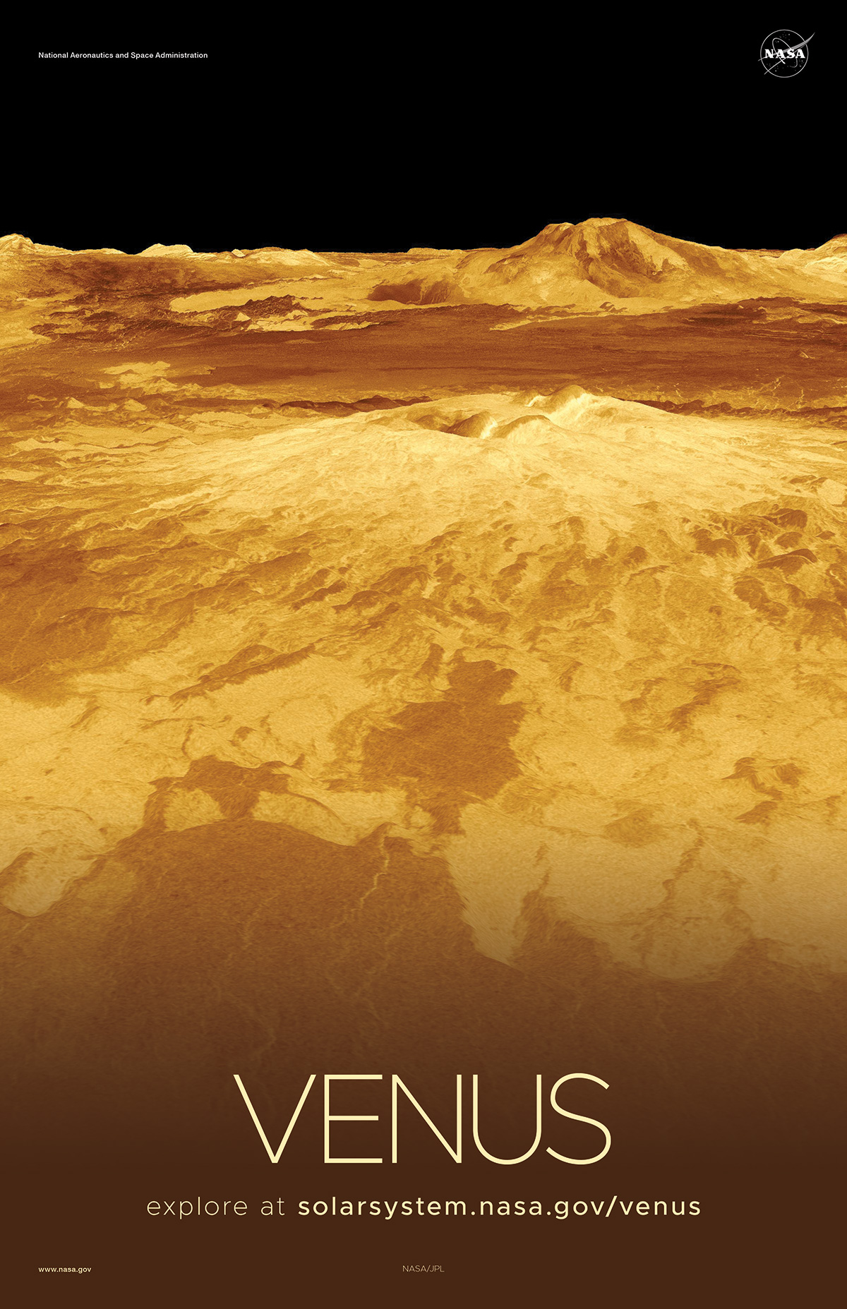 Radar-generated Surface view of Venus.