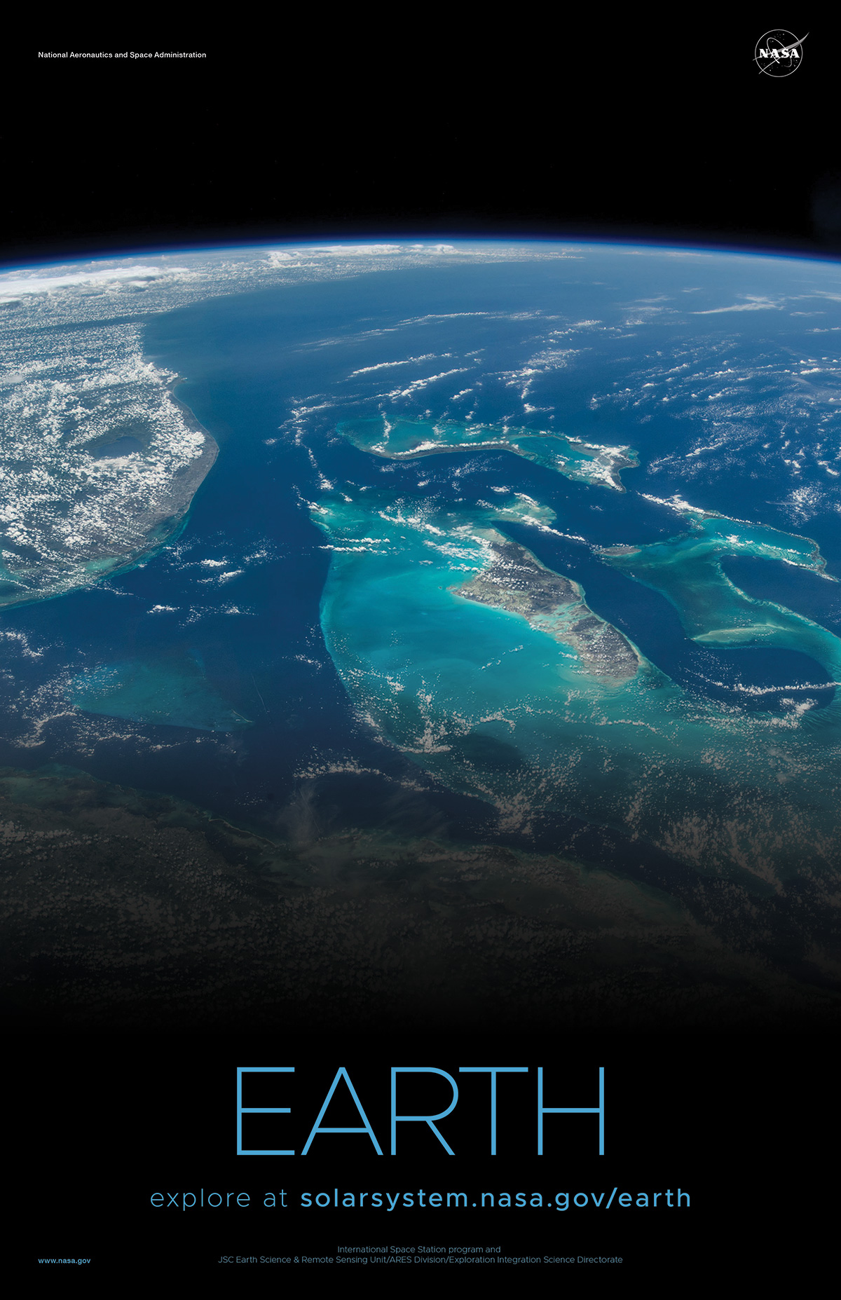 Close up of islands and oceans on Earth.