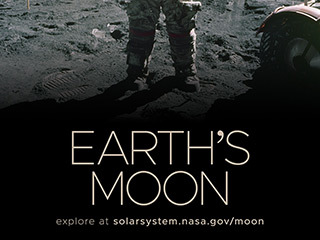 Earth's Moon Poster - Version B