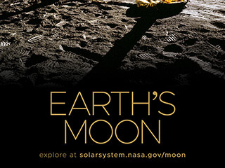 Earth's Moon Poster - Version D