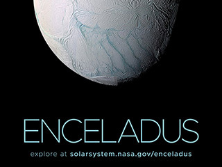 Saturn's Moon Enceladus Poster - Version A