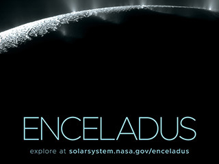 Saturn's Moon Enceladus Poster - Version D
