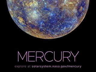 Color-enhanced, full disk view of Mercury.