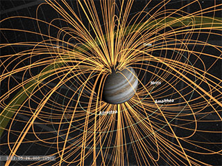 Jupiter's Magnetic Field Visualization