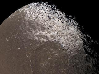 Dark-stained Iapetus