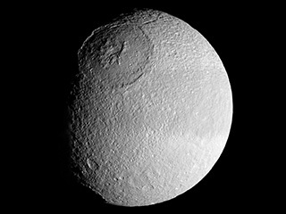 Odysseus Crater on Tethys: Moon of Saturn