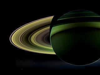 A glorious view of Saturn, taken while Cassini was in Saturn