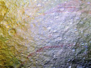 close view of Tethys