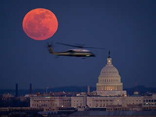 Full Moon Over U.S. Capitol