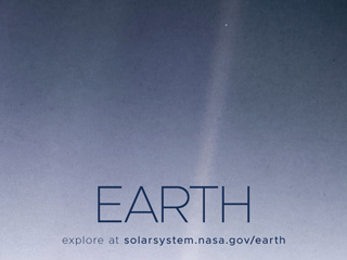 Earth Poster - Version G - The Pale Blue Dot