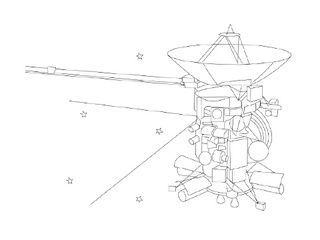 Cassini Mission to Saturn Coloring Page