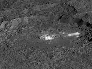 Occator Crater on Ceres (Simulated View)