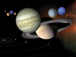 Solar System Scales (Artist's Concept)
