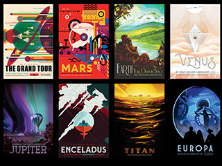 Space Tourism Posters