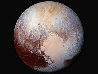 Pluto Dazzles in False Color
