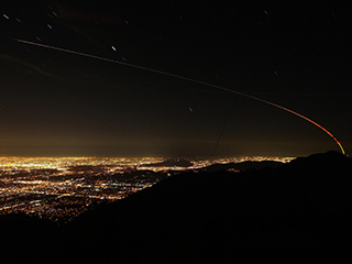 InSight Launch Over Los Angeles