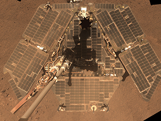 Windswept Opportunity Rover