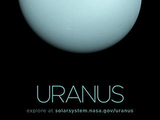 Poster with a full disk image of Uranus.