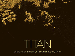 Saturn's Moon Titan Poster - Version B