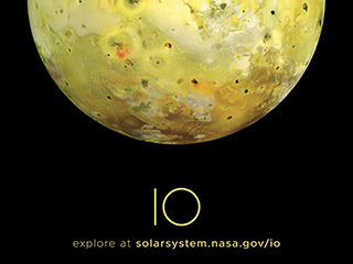 Jupiter's Moon Io Poster - Version A