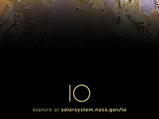 Jupiter's Moon Io Poster - Version B