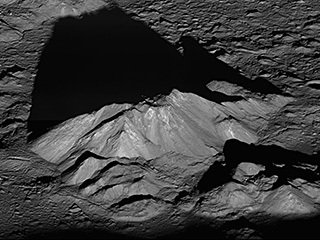 Tycho Crater's Central Peak on the Moon