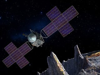 Psyche: Spacecraft and Asteroid (Artist's Concept)