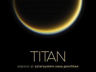 Saturn's Moon Titan Poster - Version A